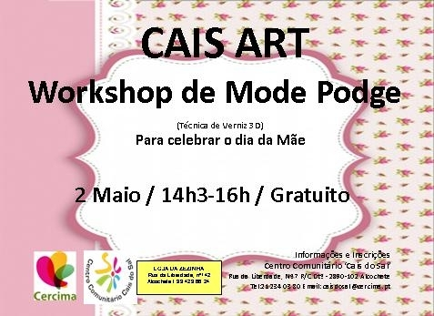 Workshop Caisart: Mode Podge  (Técnica de Verniz 3D)